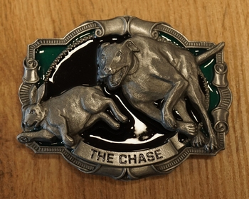 """Belt buckle """" The chase lurcher """""""