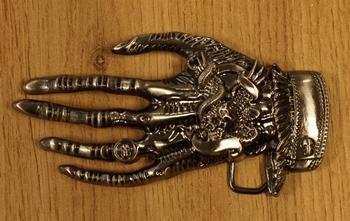 "Belt buckle "" Gruselige Hand """