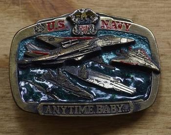 "Gürtelschnalle "" US Navy anytime baby ""  ( Flieger )"