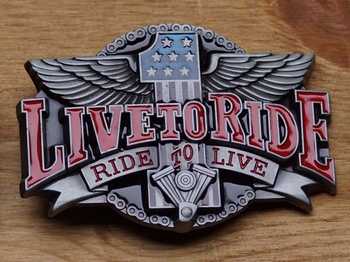 """Buckle  """" Live to ride, ride to live """""""