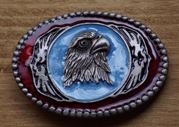 "Dekorative Schnalle  "" Indianer art Eagle head """