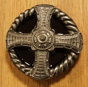 "Buckle  "" Maltezer Kreuz ""  Rot / schwarz /  AUSVERKAUFT"