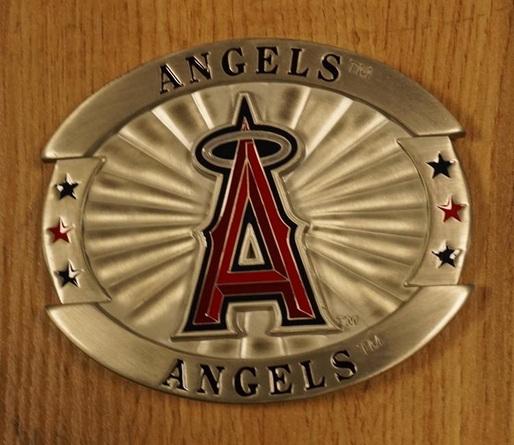 """American Football buckle """" Angels Angels """""""