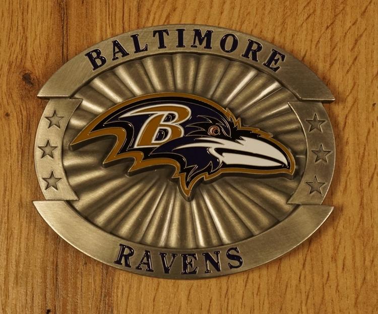 "American Football buckle "" Baltimore Ravens """