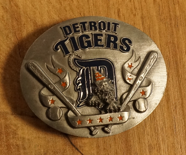 "American Football buckle "" Detroit Tigers """