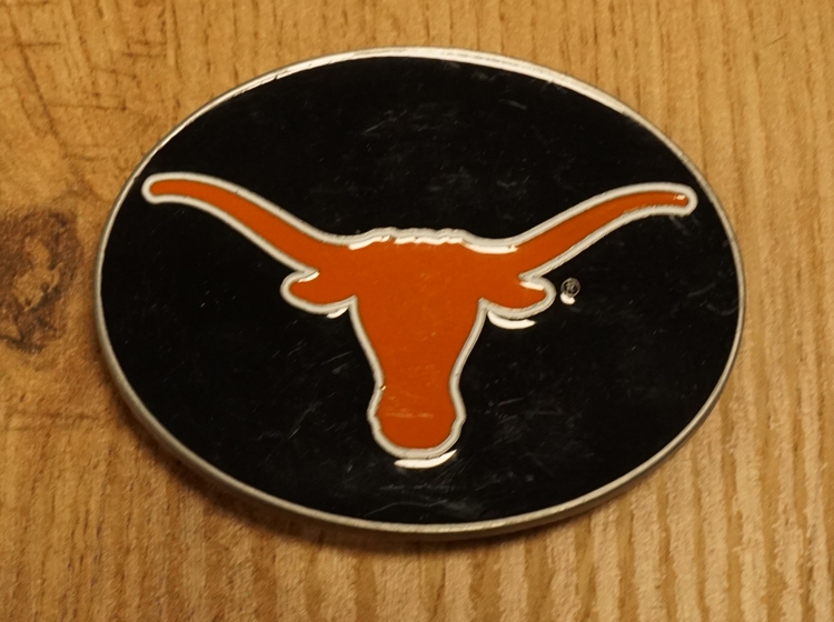 "American Football buckle "" Longhorns university of Texas """