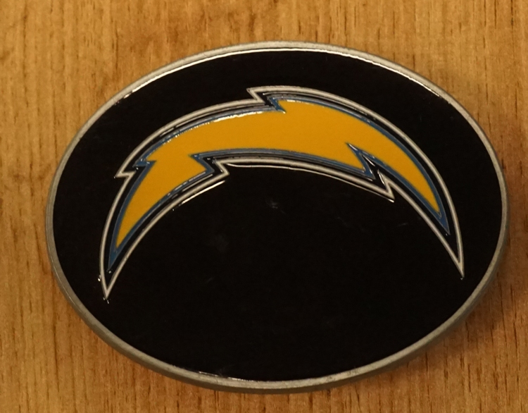 """American Football buckle """" Los Angeles Chargers """""""