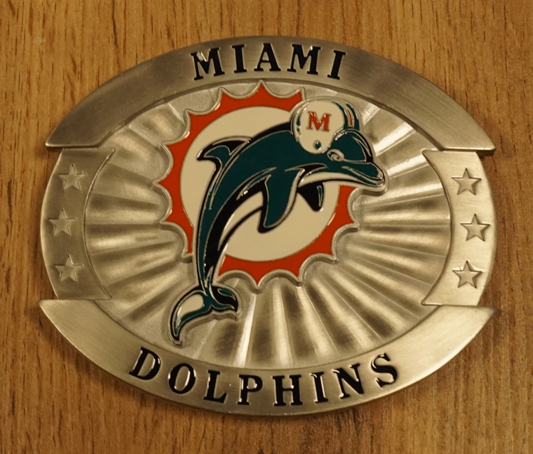 """American Football buckle """" Miami Dolphins """""""