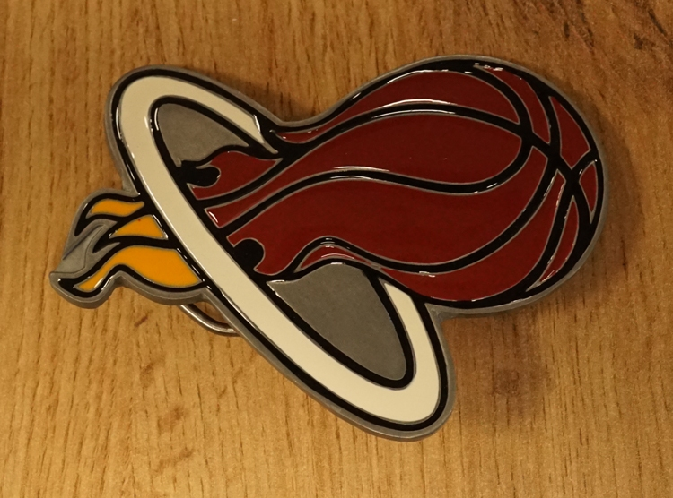 "American Football buckle "" Miami Heat """