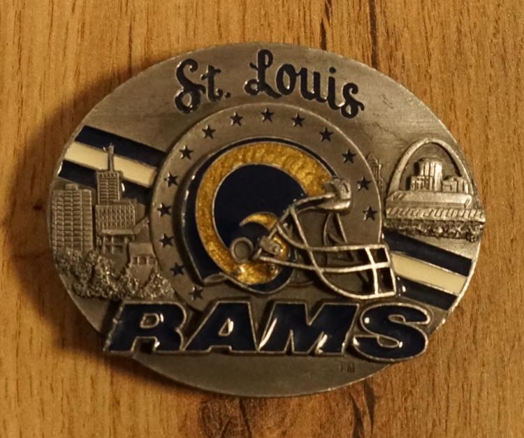 """American Football buckle """" St Louis Rams """""""