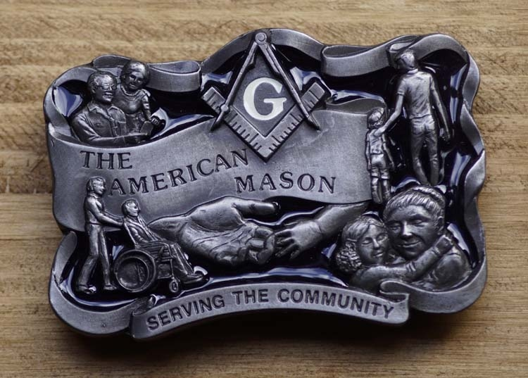 "Austauschbare Schnalle   "" The American Mason ""  (Mauer)"