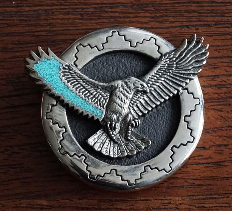 """Aztekisch Gürtelschnalle  """" Fliegender Adler """""""