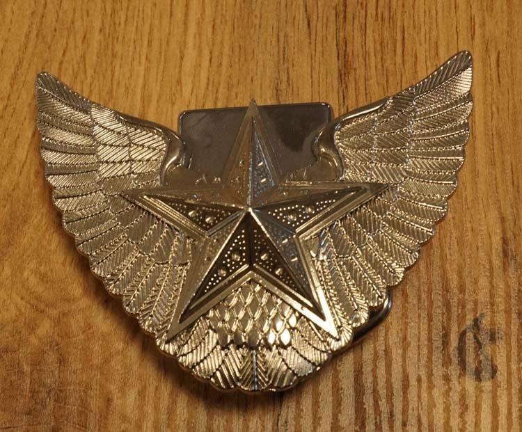 """Belt buckel with lighter """" Fliegender Stern  """""""