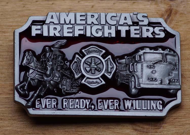 """Belt buckle  """" American fire fighters  """" ( Feuerwehrmann )"""