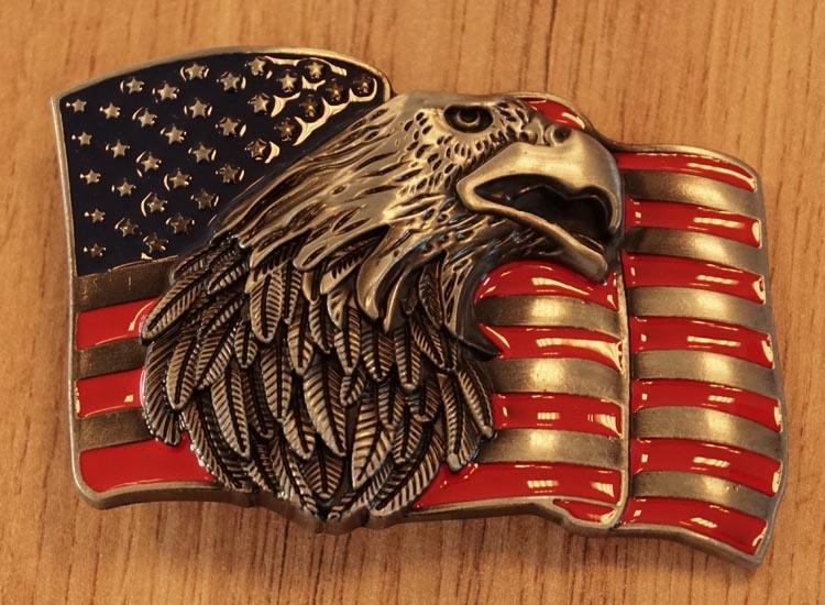 """Belt buckle  """" Amerikanische Flagge mit Adler """""""
