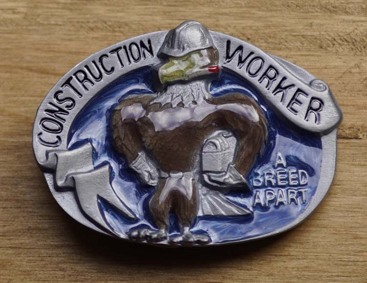 "Belt buckle  "" Construction worker """