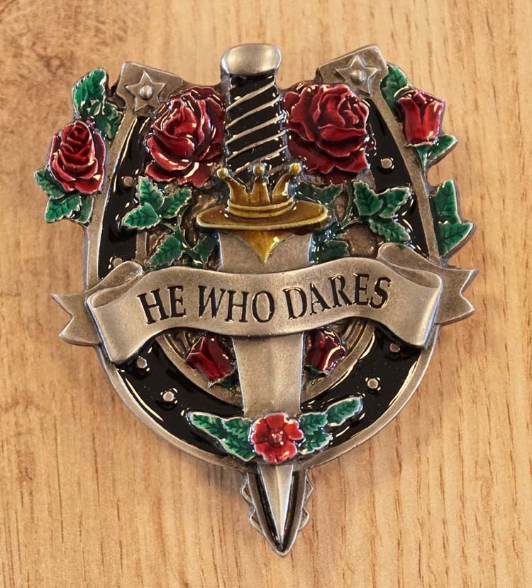 "Belt buckle  "" He who dares """