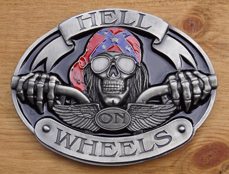 """Belt Buckle  """" Hell on wheels """""""