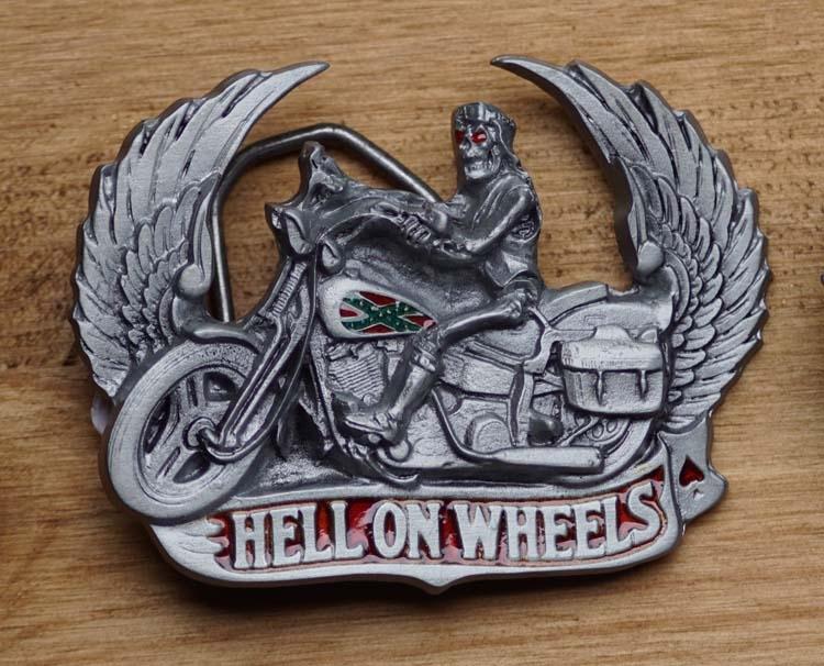 """Belt buckle  """" Hölle auf Rädern """""""