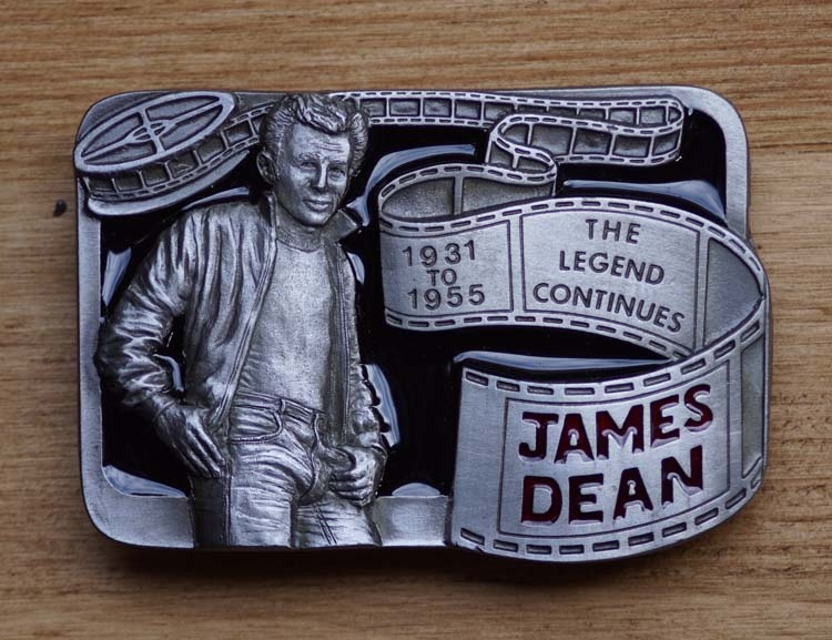 "Belt buckle  "" James Dean "" Rebel legend"