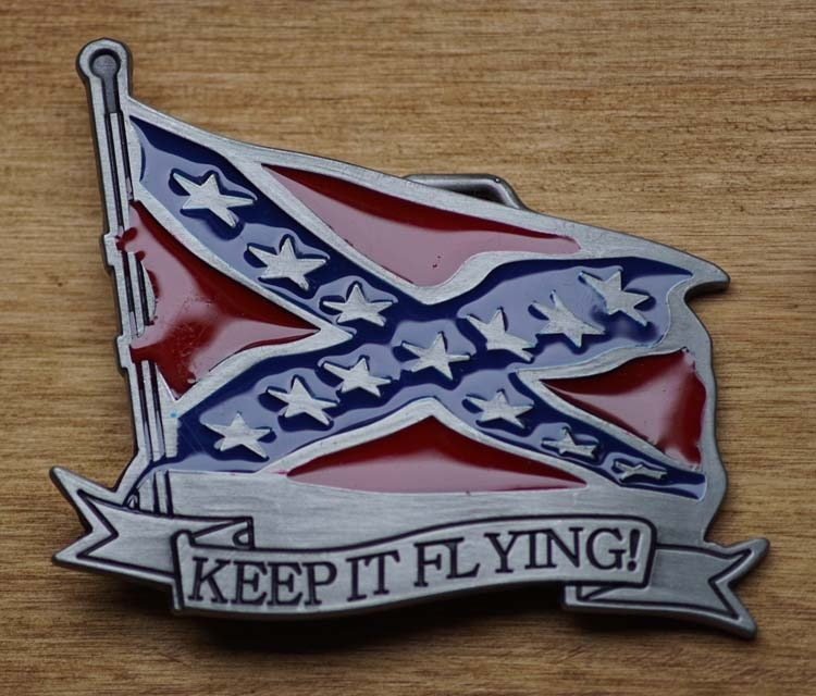 "Belt buckle  "" Keep it flying ""   Rebelflagge"