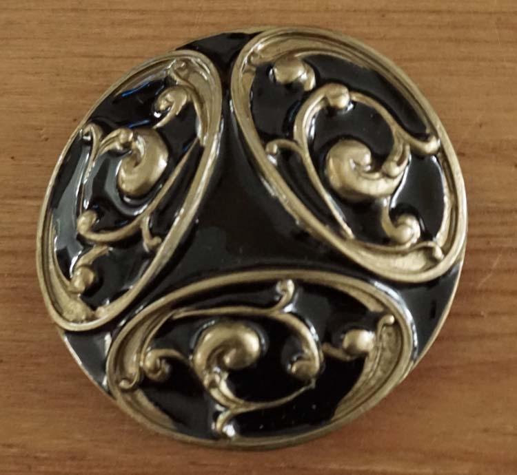 """Belt buckle  """" Keltische design """"  Schwarz / Gold Farbe"""
