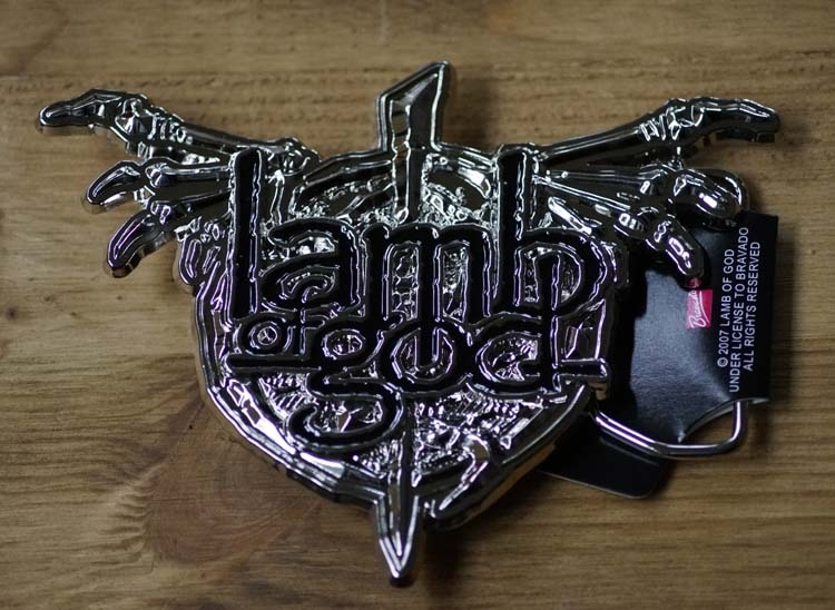 "Belt buckle  "" Lamb of God """