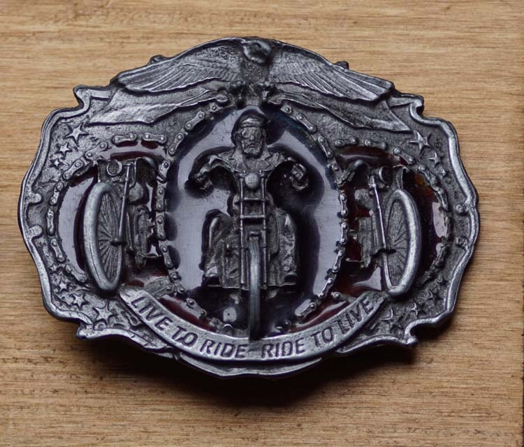 """Belt buckle  """" Live to ride - ride to live """""""