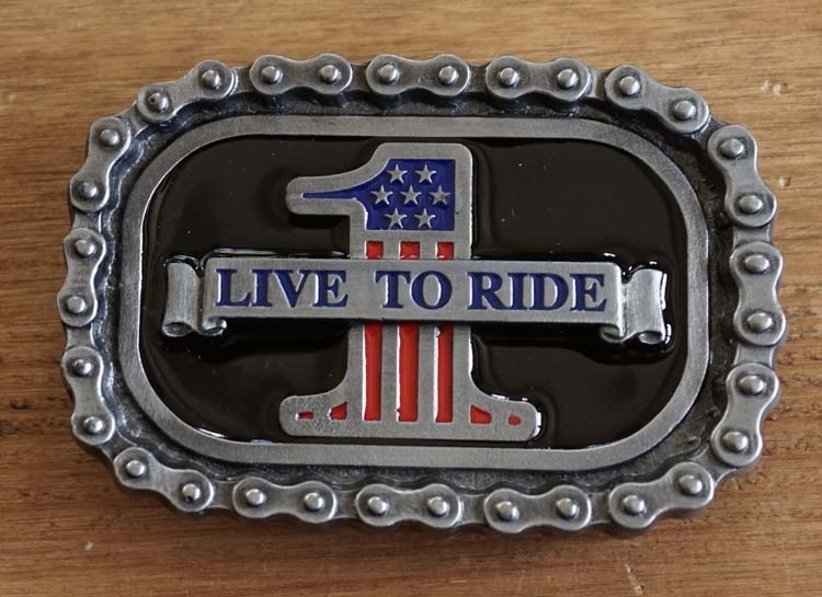 """Belt buckle  """" Live to ride 1 """""""
