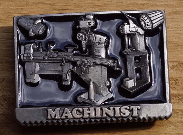 """Belt buckle  """" Machinist """"  ( Mashinen Bediener )"""