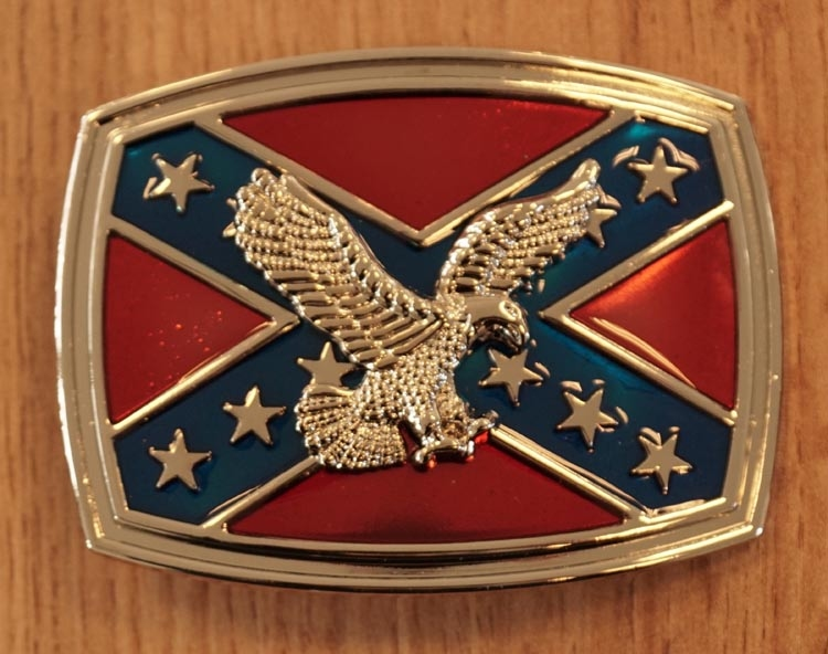 "Belt buckle  "" Rebelflagge mit Adler """