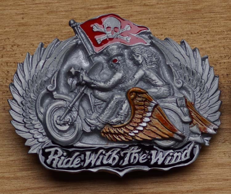 """Belt buckle  """" Ride with the Wind """""""