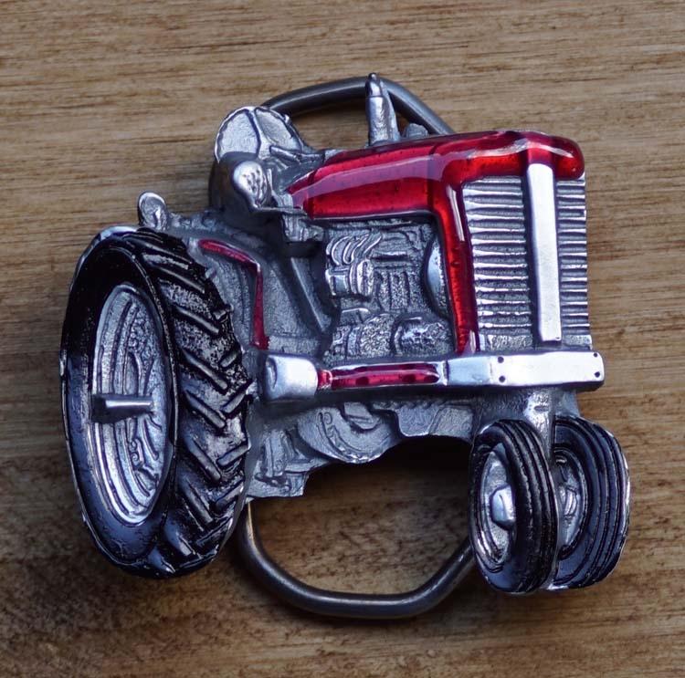 "Belt buckle  "" Traktor "" Rot"