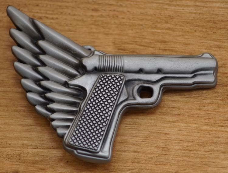 """Belt buckle  """" Waffe mit Flügel """""""