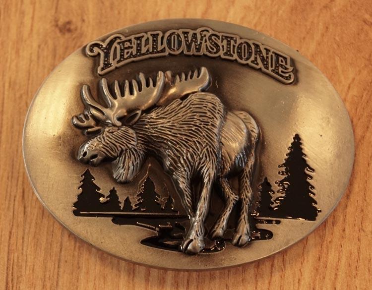 "Belt Buckle  "" Yellowstone ""   Elch"