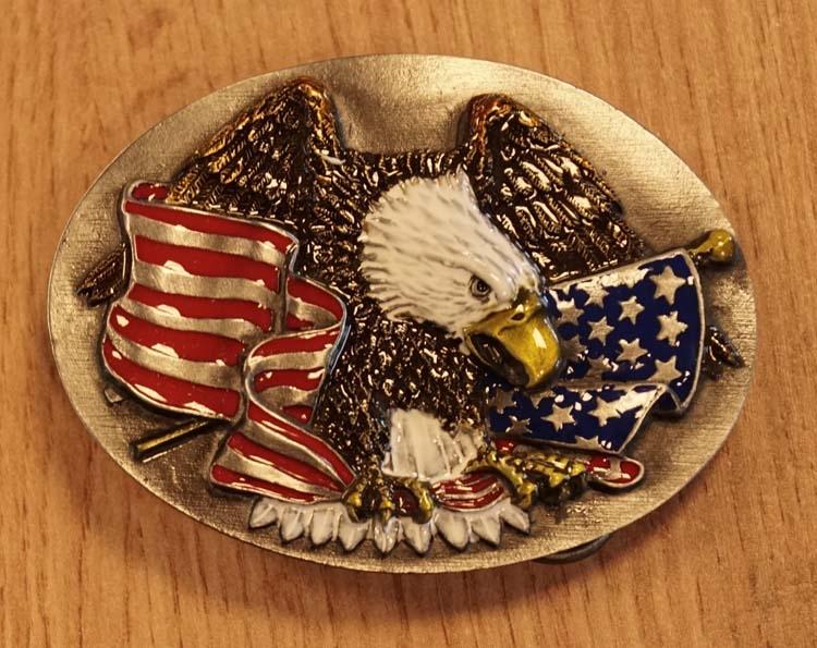 """Buckle  """" Adler mit Amerikanische Flagge """""""