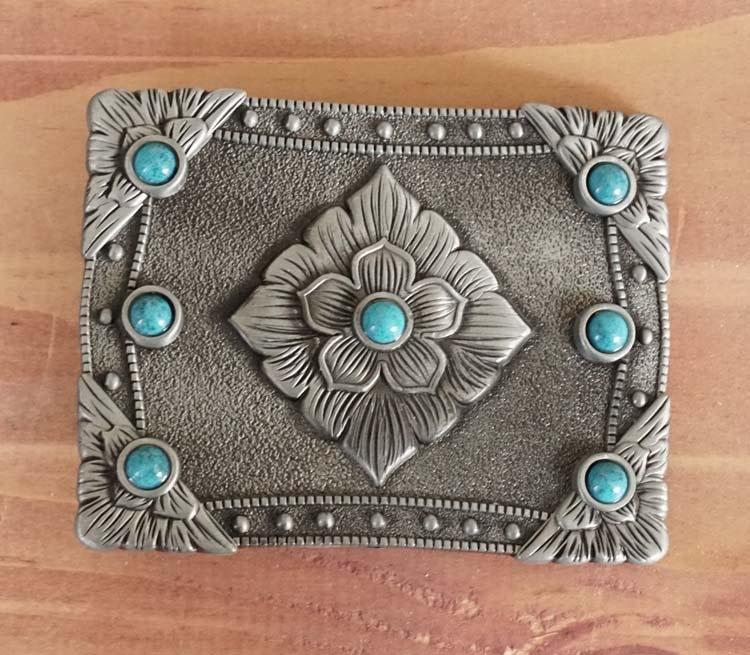 """Buckle  """" Blumen design mit Turquoise Steinen """" AUSVERKAUFT"""