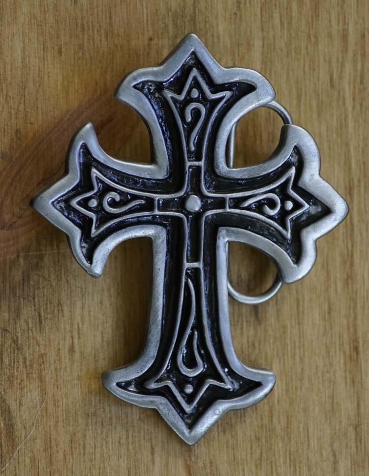 """Buckle  """" Christliches Kreuz mit Ornamental """""""