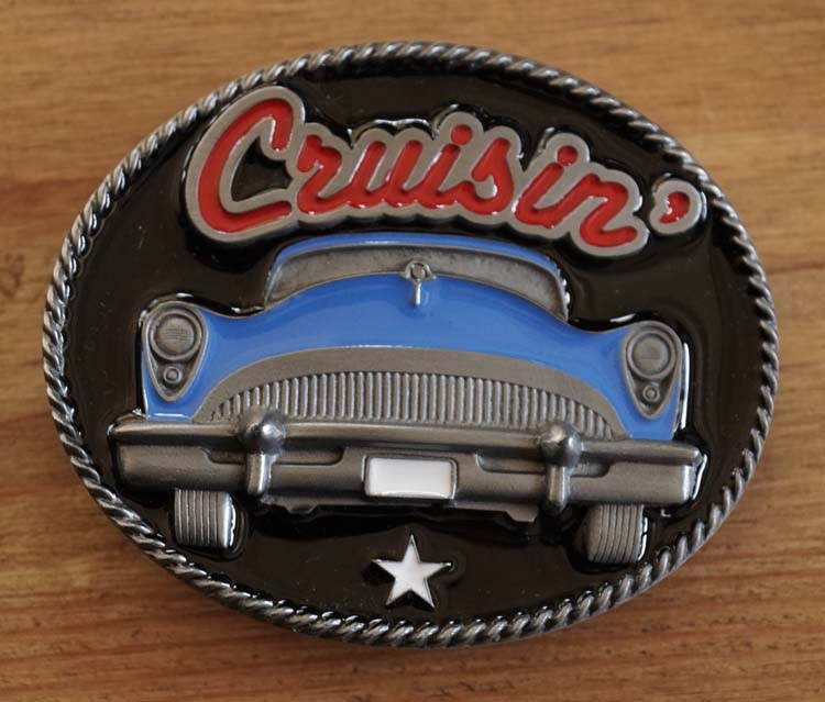 "Buckle  "" Cruisin ""  Auto Blau"