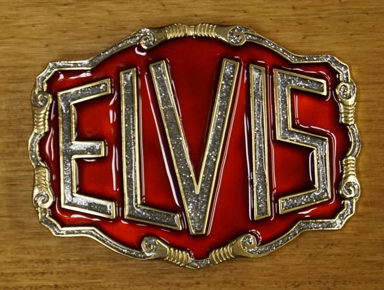"""Buckle  """" Elvis """" Rot / Silber glitzern / Gold   AUSVERKAUFT"""