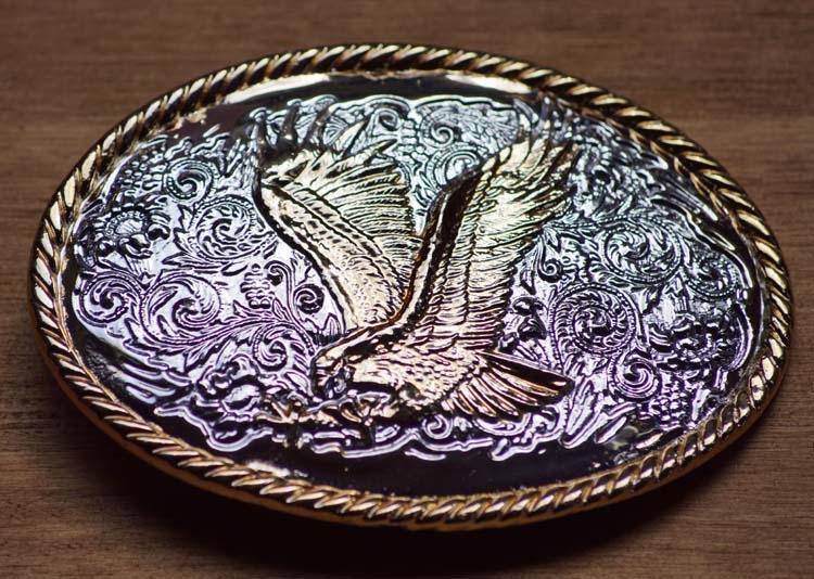 """Buckle  """" Fliegender Adler """"  Silber und Gold Farbe"""