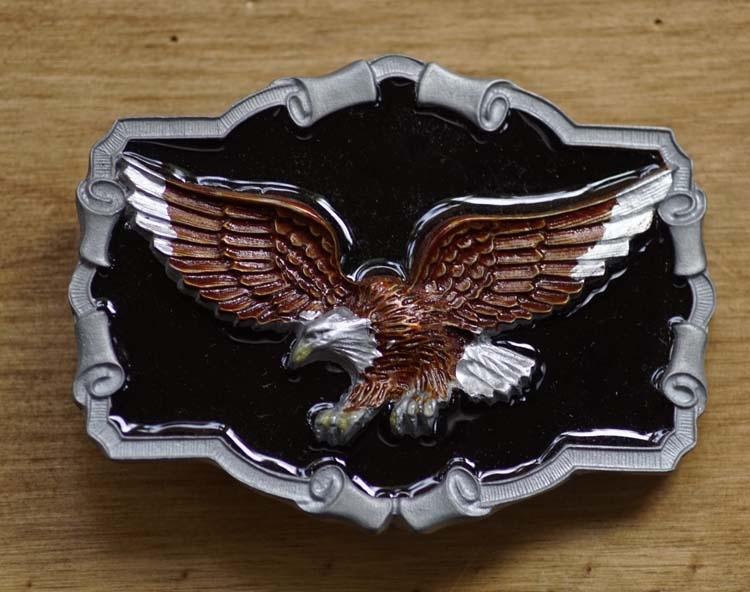 """Buckle  """" Flying Eagle black background """""""