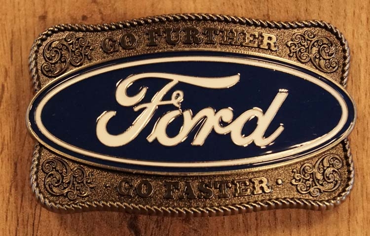 "Buckle  "" Go further Ford go faster """