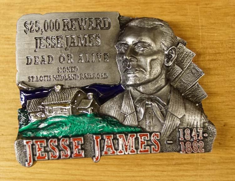 "Buckle  "" Jesse James dead or alive  """