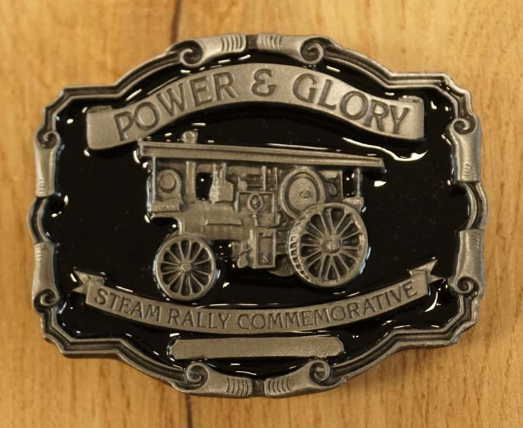 "Buckle  "" Power & Glory, Steam rally commemorative """