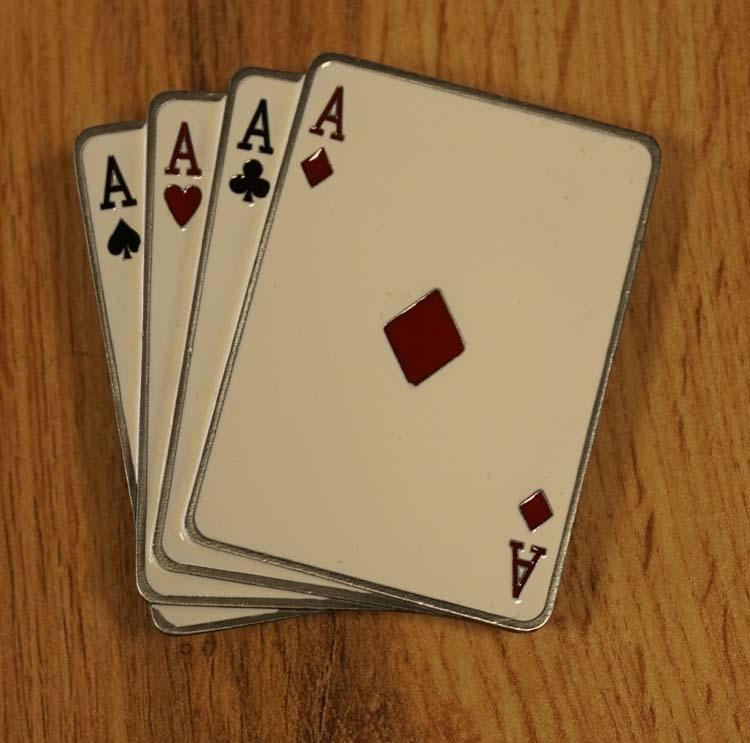 """Buckle  """" Spielkarte Asse """""""