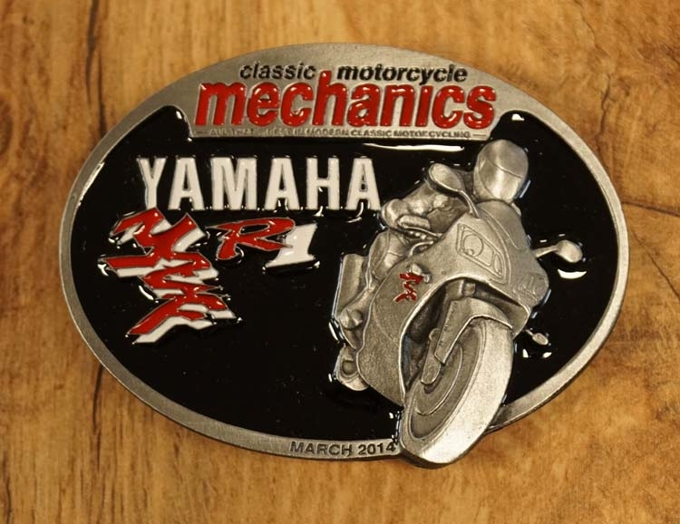 "Buckle "" Classic motorcycle mechanics "" Yamaha"
