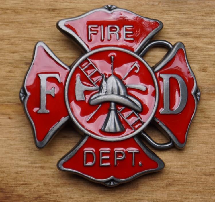 """Buckle """" FD  Firefighter """"   (Feuerwehrmann)"""
