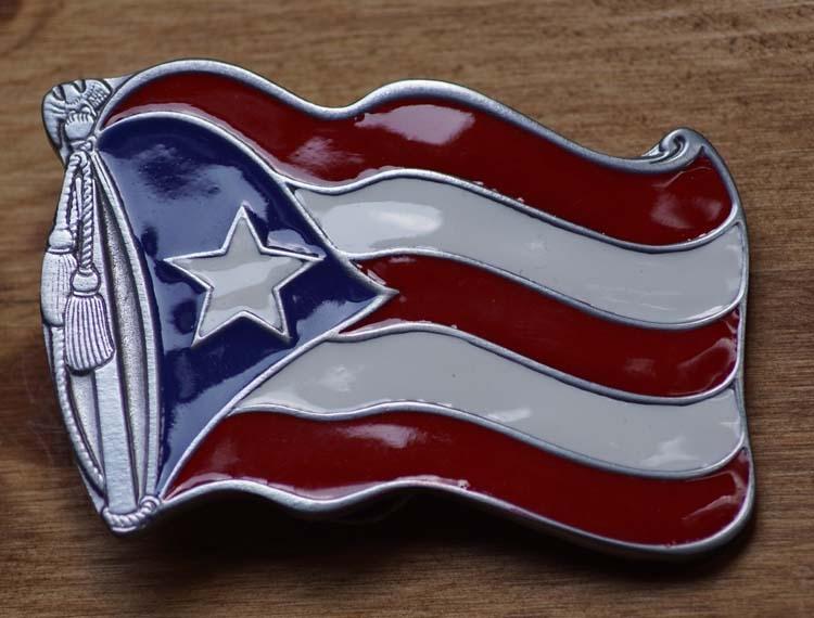 "Buckle "" Flag Puerto Rico """