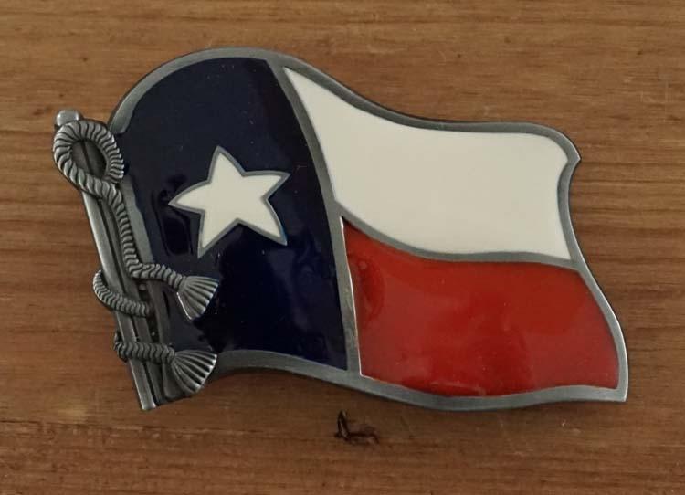 """Buckle """" Flag Texas """""""